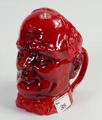 Kevin Francis / Peggy Davies Ltd Edition Winston Churchill Loving Cup:(flambe ruby fusion