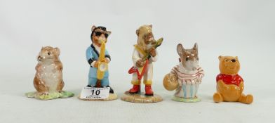 Beswick figures to include: Timmy Willie, Mrs Tiddlemouse, Winnie the Pooh,