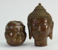 Bronze Four Faces of Buddha & Bronze Bust of a Goddess: