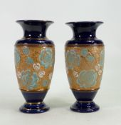 A pair of Royal Doulton slater vases: Height 20cm