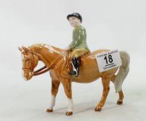 Beswick boy on Palomino pony: Beswick model 1500.
