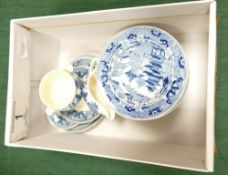 Wedgwood childs blue & white dinner service: Miniature early 20th century transfer printed part