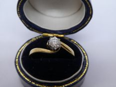 9ct yellow gold solitaire diamond ring, size Q, marked 375, weight approx 1.9g, 0.20 carat