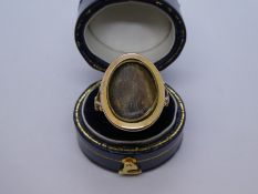 Antique 9ct yellow gold mourning ring, AF, the back inscribed and dated 1796, size O, weight approx