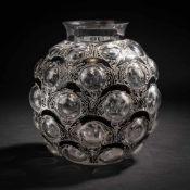 René Lalique, Vase 'Antilopes', 1925Vase 'Antilopes', 1925H. 26.5 cm. Clear, mould-blown glass,