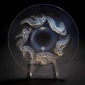 René Lalique, 'Ondines' plate, 1921'Ondines' plate, 1921D. 27.5 cm. Clear, moulded glass, opalescent