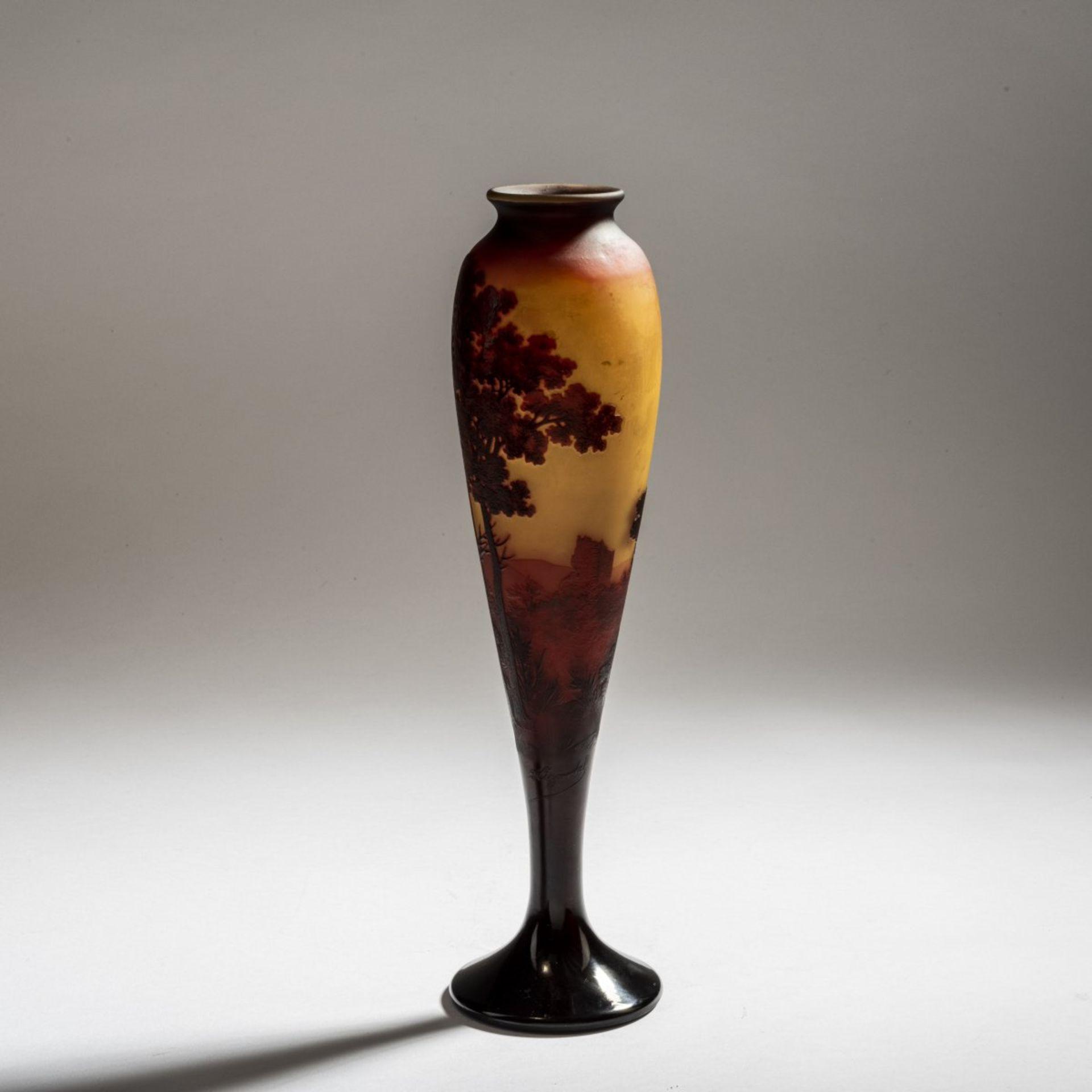 Paul Nicolas, Nancy, 'Paysage' vase, 1919-25