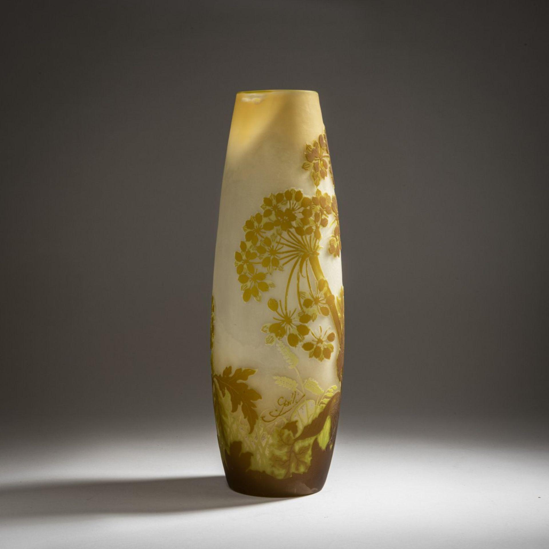 Emile Gallé, Nancy, Vase 'Ombelles', 1902-04