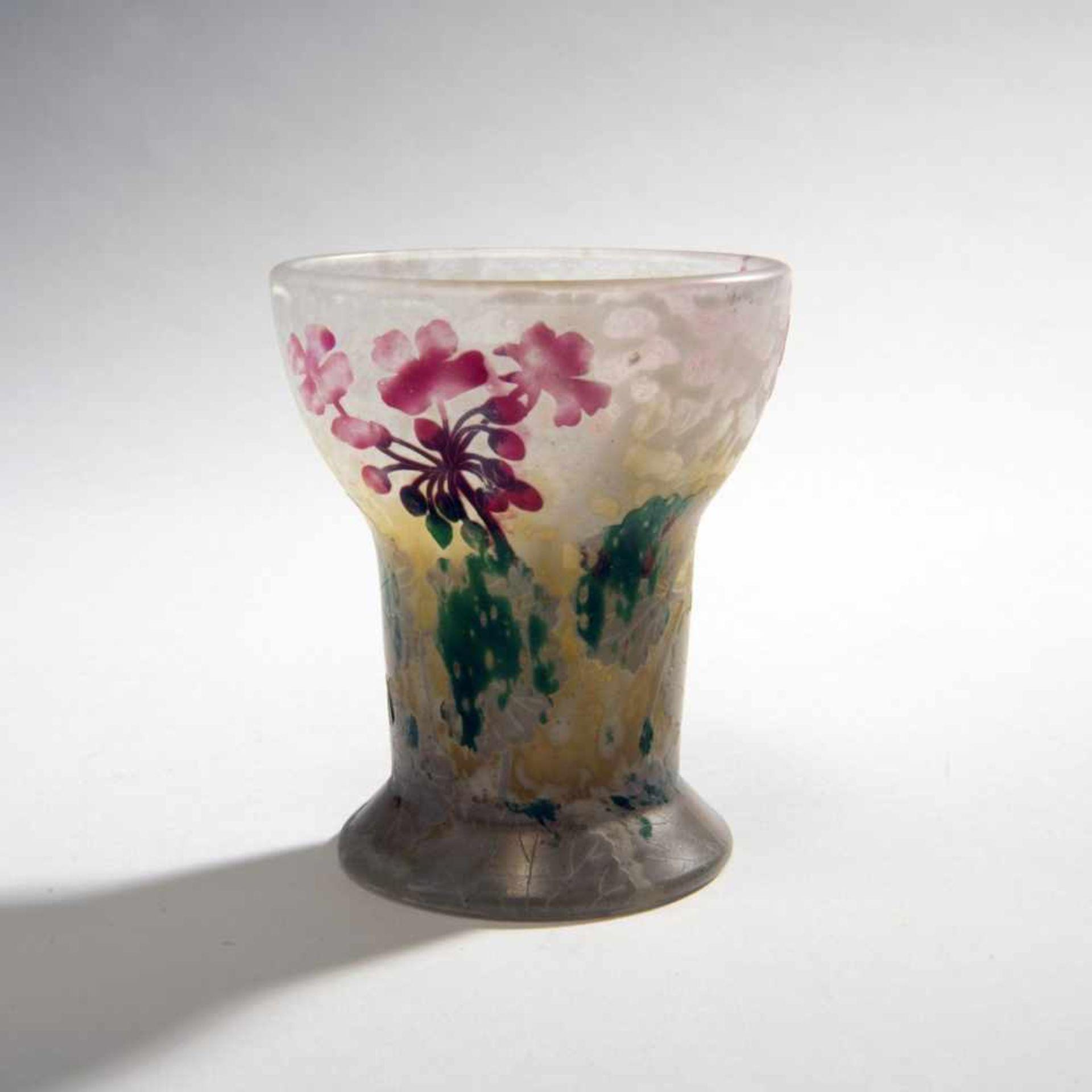 Daum Frères, Nancy, 'Géraniums, Pâte grise' vase, 1902 - Bild 2 aus 3
