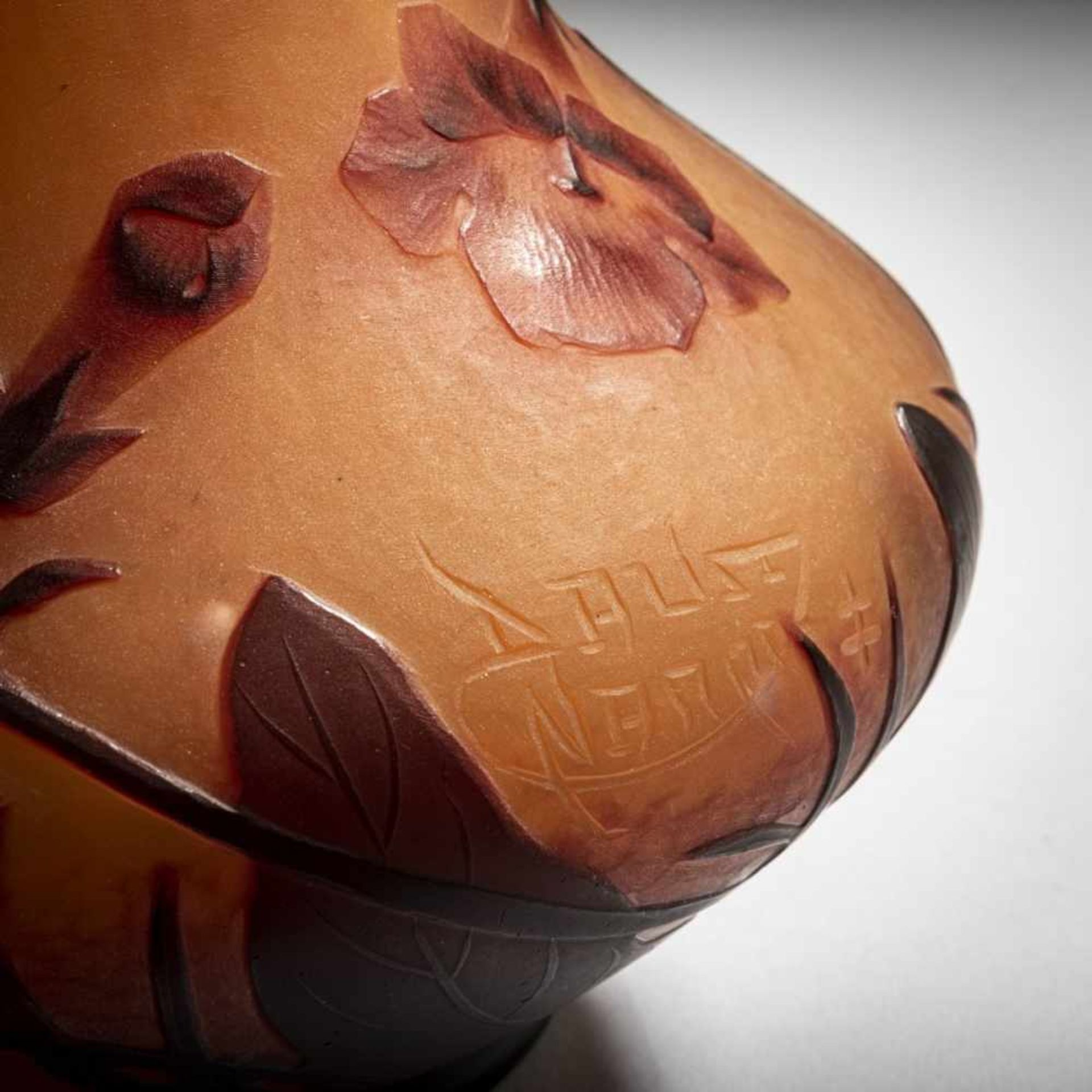 Los 160 - Daum Frères, Nancy, Vase 'Bignones', um 1912Vase 'Bignones', um 1912Weit ausgebuchtete...