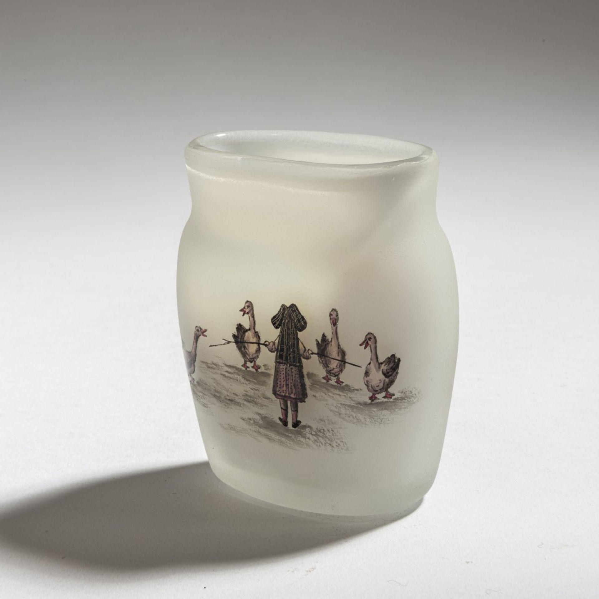 Daum Frères, Nancy, Vase 'La petite Gardeuse d'oies' (The Goose Girl), 1898