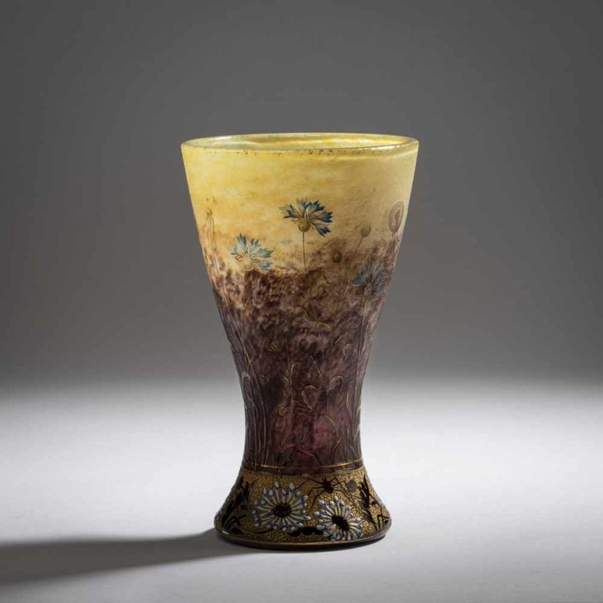 Daum Frères, Nancy, Vase 'Bleuets et Pissenlit', 1901 - Bild 2 aus 5