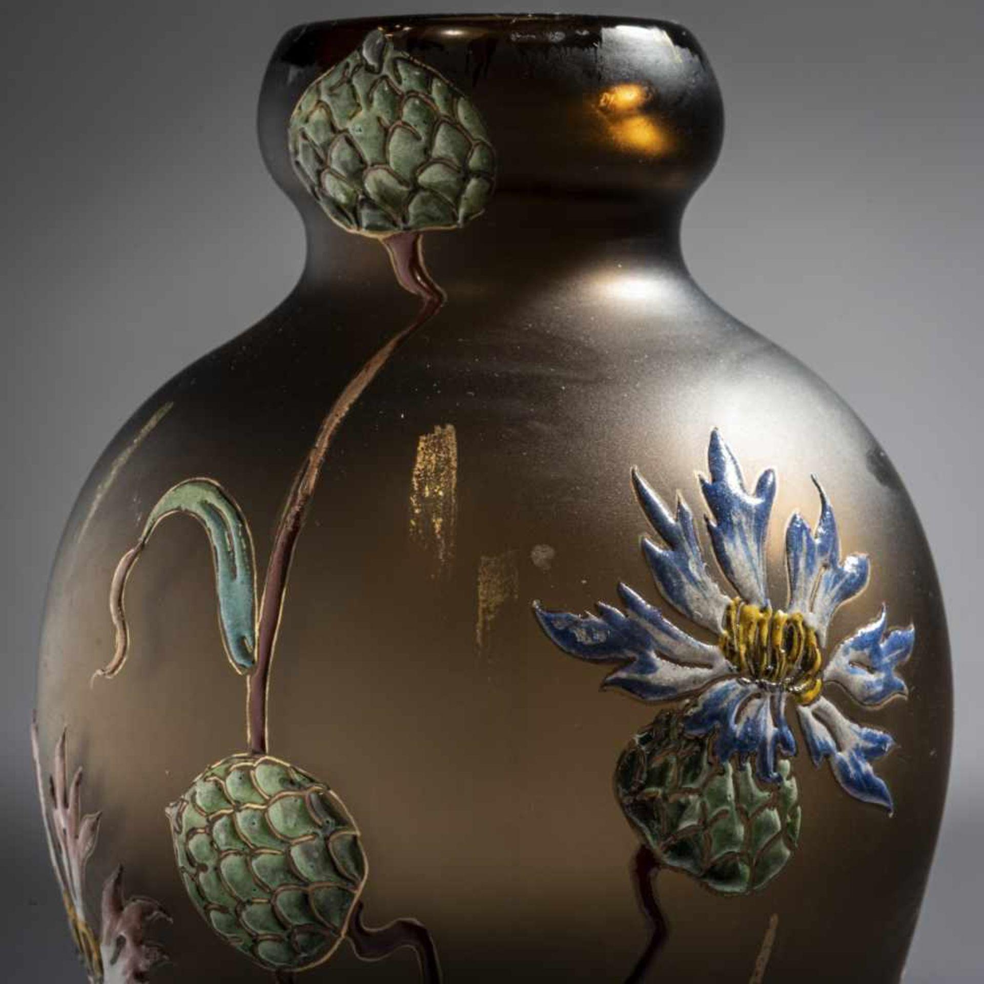 Verrerie d'Art de Lorraine, Burgun Schverer & Cie., Meisenthal, Pair of vases 'Bleuets', c. 1895- - Bild 11 aus 13