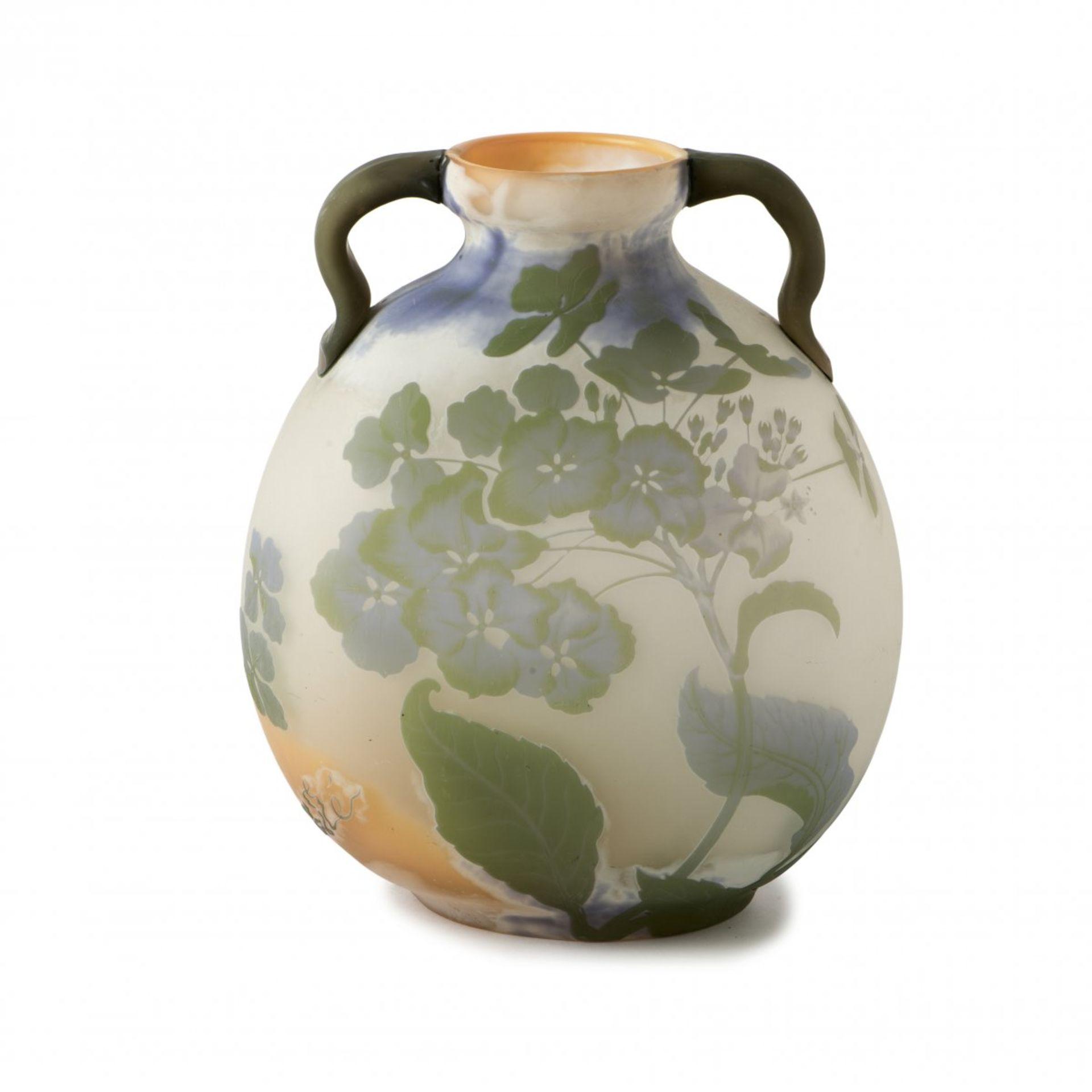 Emile Gallé, Nancy, 'Hortensias' vase, 1903/04