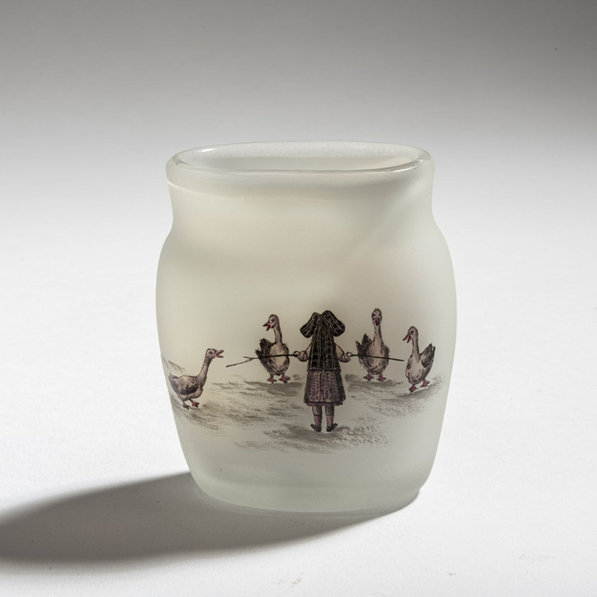 Daum Frères, Nancy, Vase 'La petite Gardeuse d'oies' (The Goose Girl), 1898 - Bild 3 aus 4