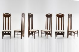 Charles Rennie Mackintosh, Set of six 'Argyle' chairs, 1897