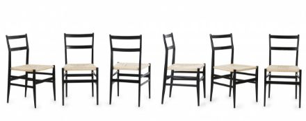 Gio Ponti, Set of six 'Leggera' side chairs, 1949/50