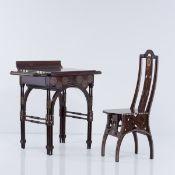 Eugenio Quarti, Schminktisch mit Stuhl, um 1898