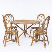 Tito Agnoli , Vier Stühle, ein Tisch, 1950er Jahre