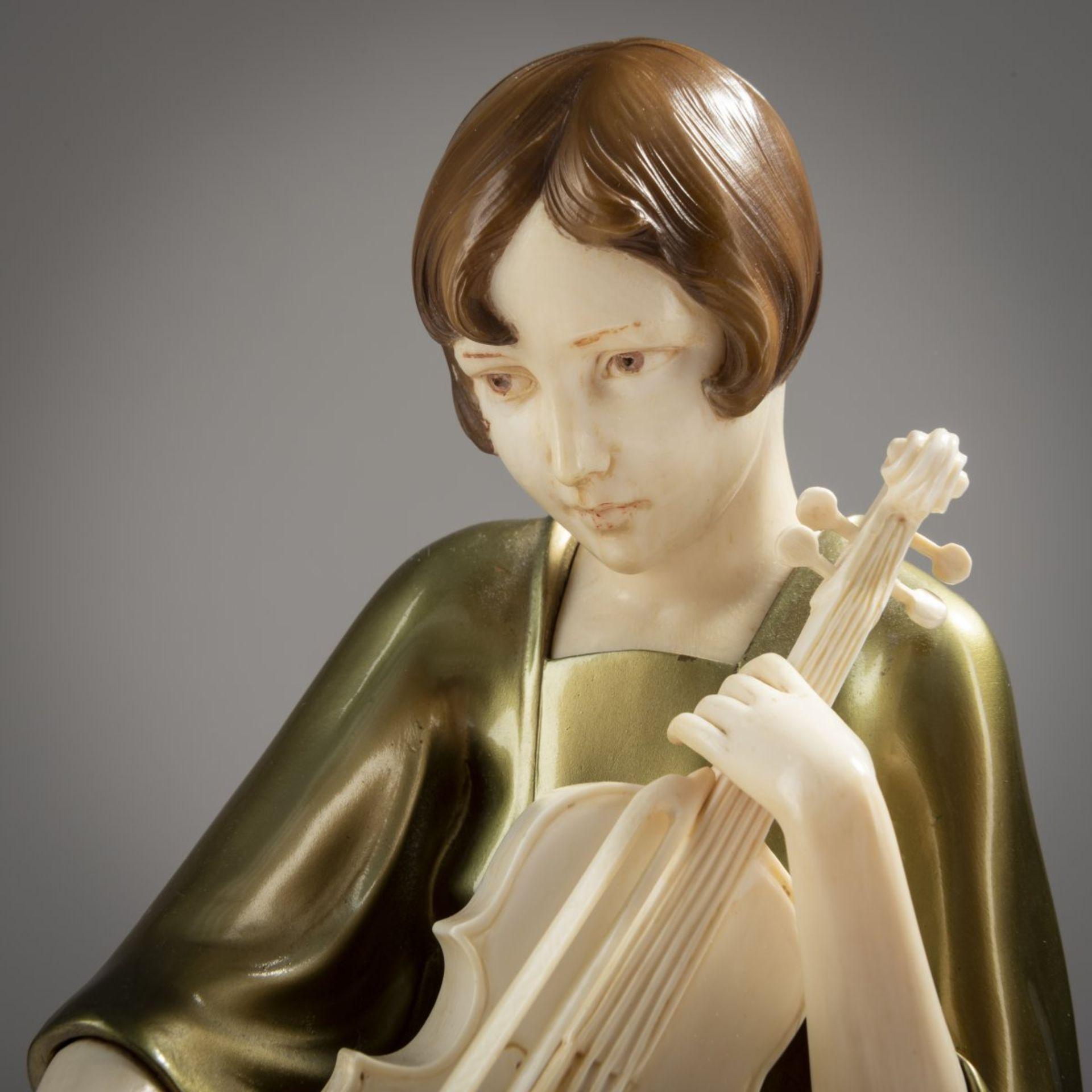 Paul Philippe , 'Violinespielerin', um 1925 - Bild 5 aus 8