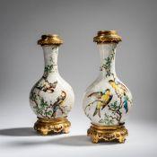 Edmond Lachenal, Châtillon-sous-Bagneux, Zwei Lampenfüße, um 1885-90