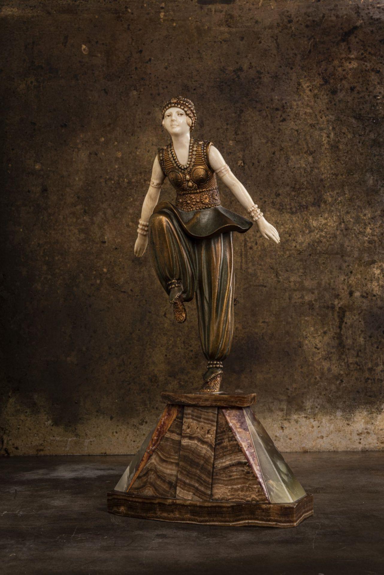 Demètre H. Chiparus, 'Orientalische Tänzerin', um 1925 - Bild 8 aus 9