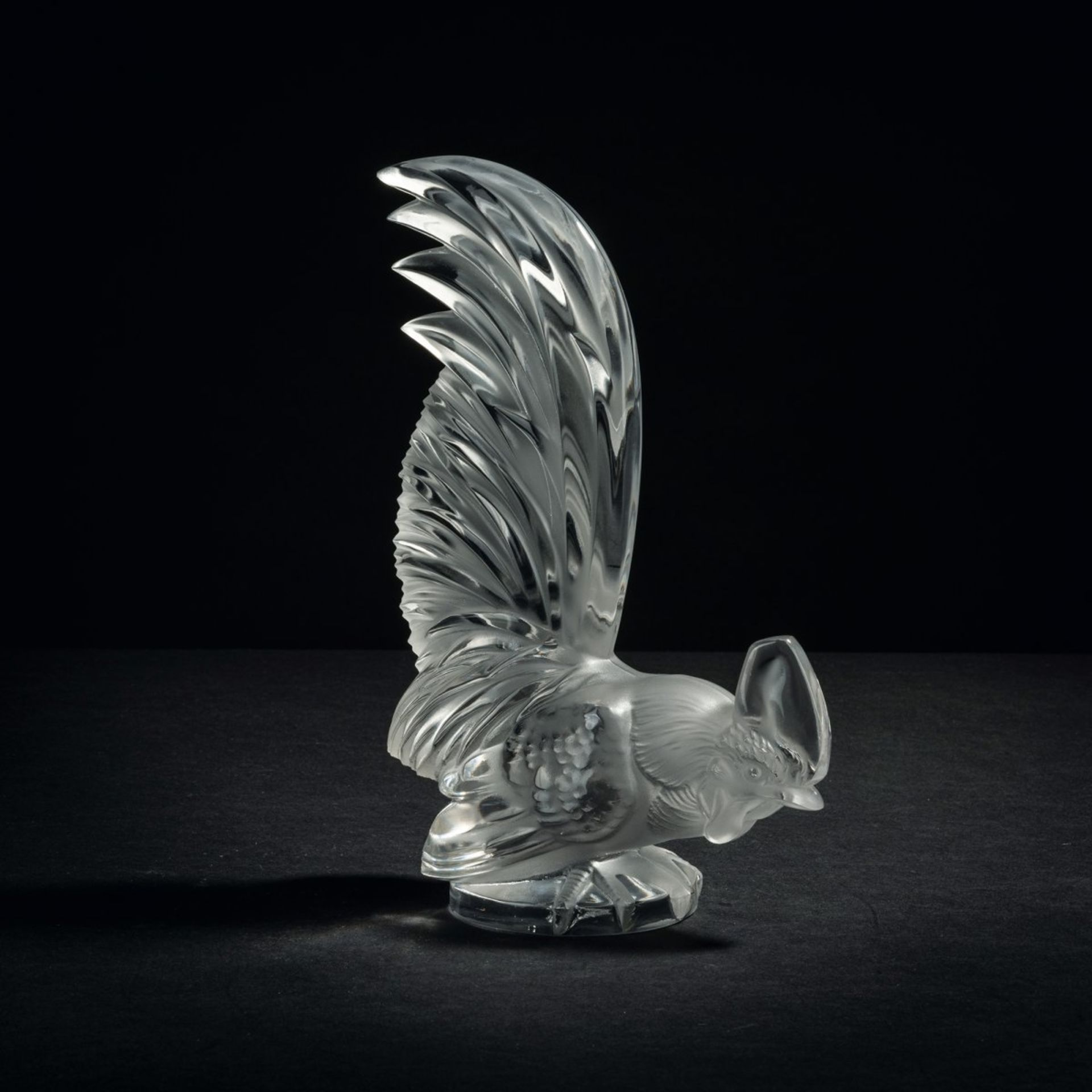 René Lalique, Briefbeschwerer 'Coq nain', 1928