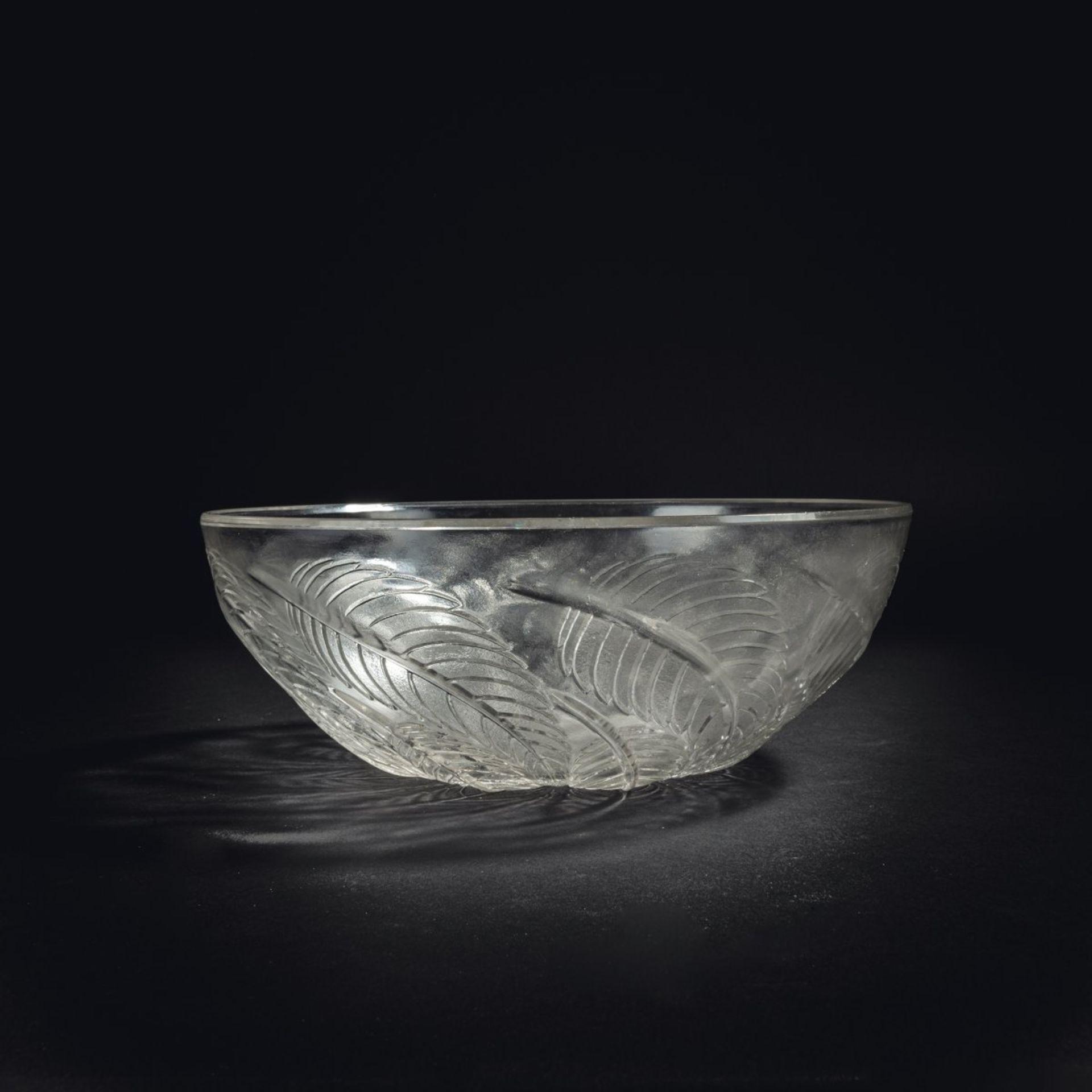 René Lalique, Schale 'Feuilles de Châtaignier N°1', 1922