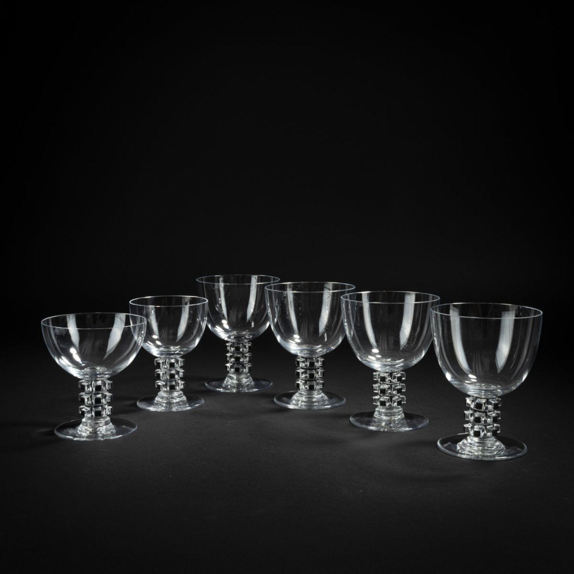 René Lalique, Sechs Gläser aus dem Service 'Unawihr', 1926 - Bild 2 aus 4