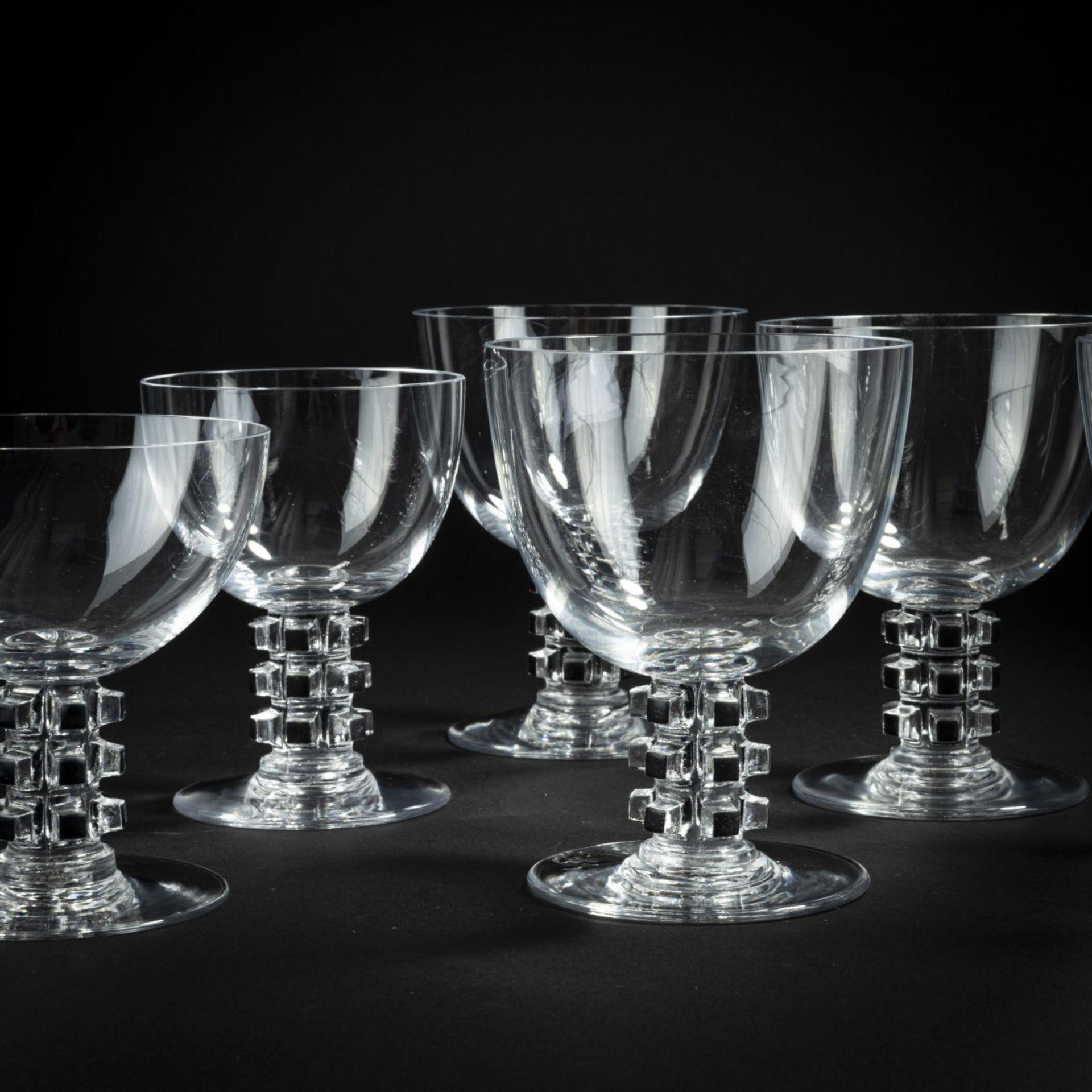 René Lalique, Sechs Gläser aus dem Service 'Unawihr', 1926 - Bild 3 aus 4