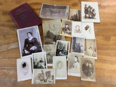 A collection of 18 Victorian card photographs, mainly family portraits with photographers names to