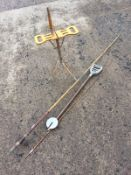 An unusual Edwardian shooting stick with singed decoration and chromed mounts, the folding seat on