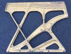 A heavy cast iron harp style piano frame by Waddington. (55in x 45in)