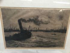 Charles Henry Baskett (1872-1953) etching