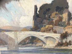 Manner of Frank Sherwin - Gouache, Barnard Castle, together with another of the same subject