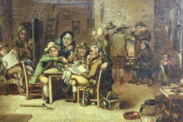 Manner of David Wilkie - Two 19th century interior scenes
