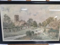 D A Greatorex (mid 20th century) watercolour - Buckland, Gloucestershire