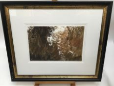 Jeremy Houghton, contemporary, watercolour - figure in landscape, signed and dated '09, in glazed