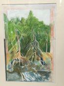 John Doubleday watercolour - Mangroves, Cairns, in glazed frame