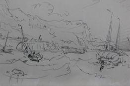 Myles Birkett Foster (1825-1899) pair of pencil sketches, marine scenes