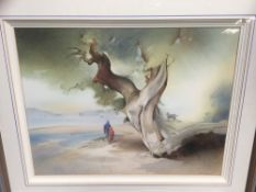 Anthony Wells (20th century) pair of watercolours