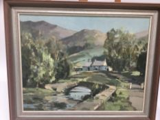 Stanley Orchart (1920-2005) oil on board landscape
