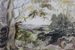 James Duffield Harding, watercolour, signed with initals