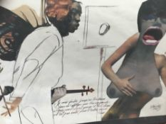 Ahmed Mahmood (born 1937) - A2 portfolio housing a series of 40 erotic collages
