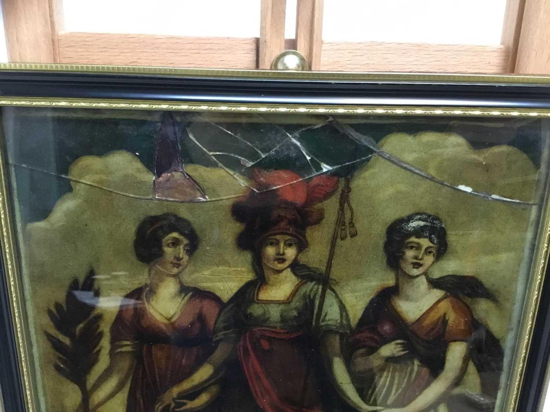 Lot 224 - Regency style reverse print on glass, another