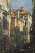 Charles Hardaker (b.1934) oil on board - Sunlight and Shadows, Venice, signed, titled, signed and in