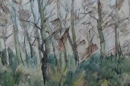 Yvres Rouvres (1910-1996) watercolour trees, together with a 1961 catalogue