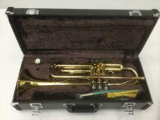 Yamaha trumpet, cased