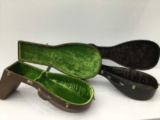Two good quality lute cases with lined interior