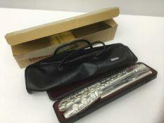 Yamaha silvered flute model 211